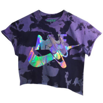 Swooosh Holo Crop Top