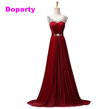 Doparty luxury plus size engagement women cheap royal blue long turquoise party evening dress mother of the bride dresses 2017
