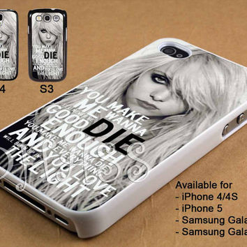 The Pretty Reckless Quotes Design for iPhone 4/4s/5 Case, Samsung Galaxy S3/S4 Case