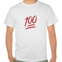 Hundred Points Symbol Emoji Tshirt