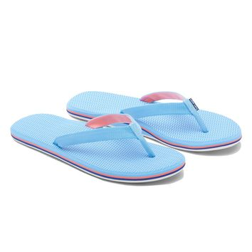 Women's Dunes Flip Flop in Baby Blue, Coral & Navy by Hari Mari