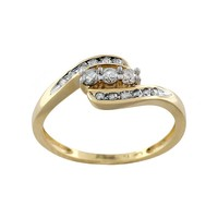 Round-Cut Diamond Swirl Engagement Ring in 10k Gold (1/4 ct. T.W.) (White)
