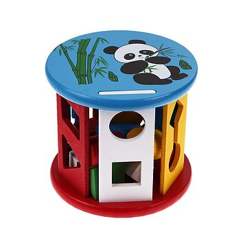 Intelligence Box for Shape Sorter Cognitive and Matching Wooden Building Blocks Baby Kids Children Educational Wood Toys