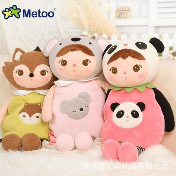 Metoo Brand New Arrival Kawaii Stuffed Plush Toy Doll Kepple Toys Bag Backpack Brinquedos Birthday Gift For Baby