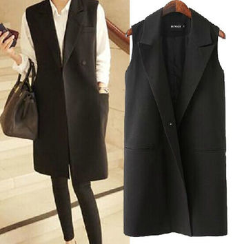 Women's Fashion Korean Plus Size Vintage Blazer Coat Jacket [4918965252]