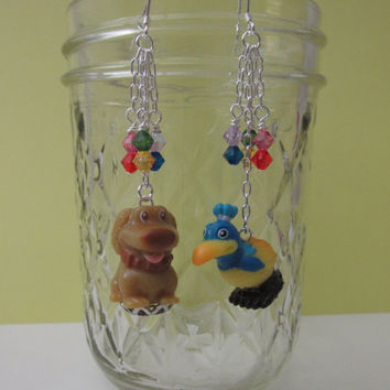To Paradise Falls - Adorable Earrings featuring Dug and Kevin from Disney Pixar's UP