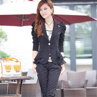 Autumn Womens Blazers And Jackets Female Sweet Suit Outerwear Coat 4 Colors Women Blazer Femininas Tops Plus Size S-6XL C1329