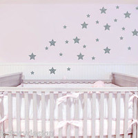 Peel and Stick Stars Removable Vinyl Wall Decal Art Simple Decor Sticker