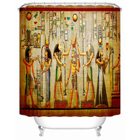 Accept Custom Image Shower Curtains Bathroom Curtain Ancient Egyptian Life A Diagram Showing Practical Furniture Fj063