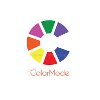 Design Logo, Color Wheel Logo, Interior Design Logo, Painter's Logo, Customizable Premade Logo Design