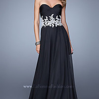 Black and White Strapless La Femme Dress