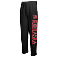 Nebraska Cornhuskers Pantalon Fleece Pants – Black