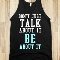 Supermarket: Be About It Tank Top from Glamfoxx Shirts