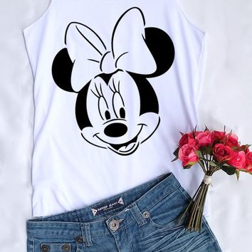 Minnie Mouse face tank top. Disney tank. Disney tshirt. Tee&Tops. Disney tank. Disney family shirts. Disney shirt. Minnie Mouse shirt