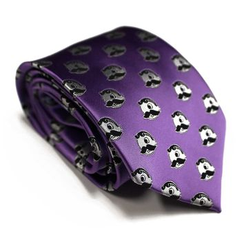 Embroidered Natty Boh Logo Pattern (Purple) / Tie