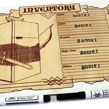 TopatoCo: Medieval Inventory Dry Erase Whiteboard