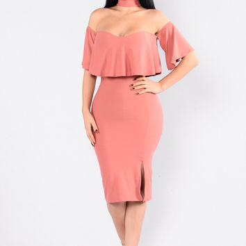 Lost In Love Dress - Mauve