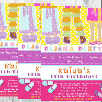 Pajama Party Invitation/Sleepover Invitation/Pajama Birthday/Sleepover Birthday/Printables/Digitals