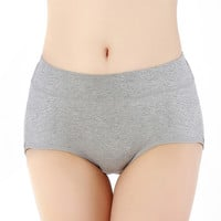 High quality fashion intimates Pure Cotton  Women's Panties Non-trace Seamless Ms In Waist Sexy Underwear Natural Cotton Briefs