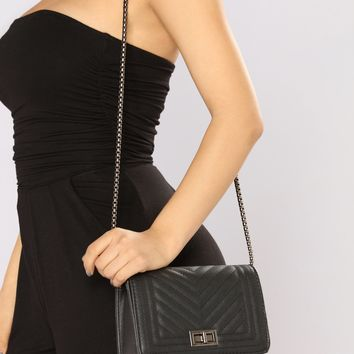 Leather Lady Crossbody - Black