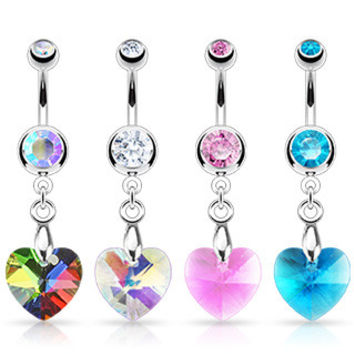 Belly Ring-Heart Ray Prism