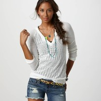 AE Pointelle Hoodie | American Eagle Outfitters