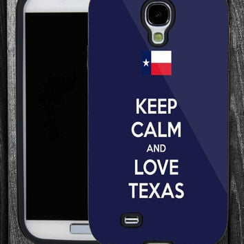 Keep Calm and Love Texas -IPhone 5 case,IPhone 4,4S,Samsung Galaxy S2 i9100,Samsung S3 i9300,Samsung S4 i9500-B-2162013-5