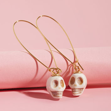 Lenora Dame Skull and Response Earrings