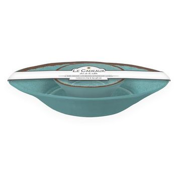 Antiqua Turquoise Chip and Dip 2 Bowl Set