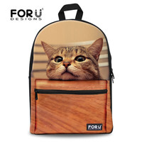 Cat Kitten Dog Owl Tiger Backpack Bag Full Color Funny animal teens youth college