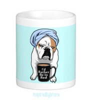 Bulldog coffee mug, I love English Bulldogs, English bulldog, mug, coffee, grumpy bulldog