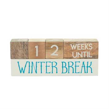 MUD PIE TEACHER BREAK COUNTDOWN BLOCKS
