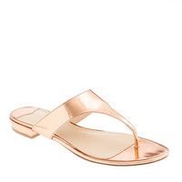 Tybee metallic slide sandals
