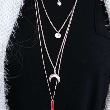 The Other Side Necklace: Silver
