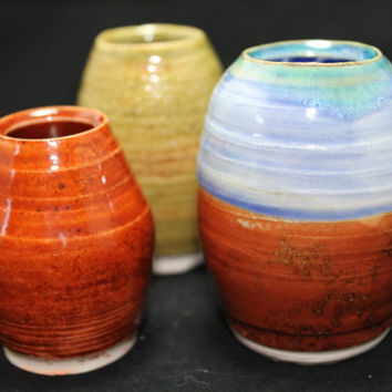 Miniature Vases Ceramic Pottery Gift
