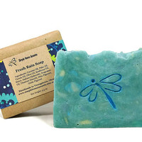 Fresh Rain Soap, Handmade Soap, Fresh Scent Soap, Vegan Soap, Gift under 10