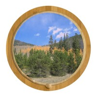 Aspen Mountain Scene Cheese Board Round Cheeseboard
