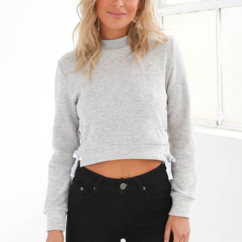 Long Sleeve High Neck Autumn Crop Top