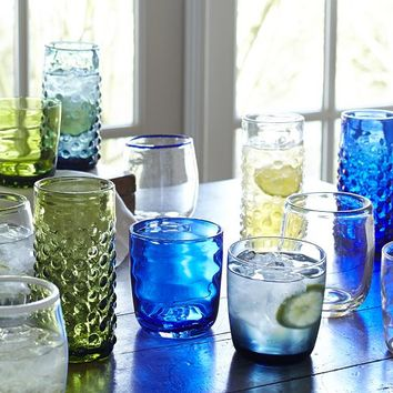 COLORFUL ECLECTIC GLASSWARE, SET OF 4
