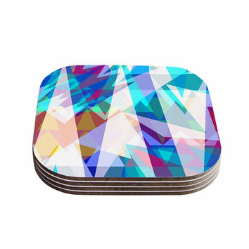 "Miranda Mol ""Triangle Party"" Multicolor Coasters (Set of 4)"