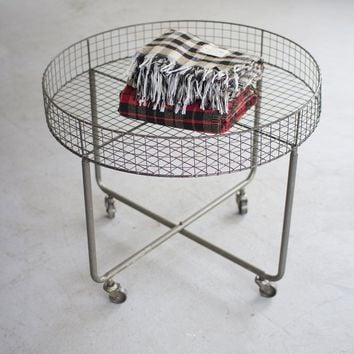 Rolling Round Wire Display Table ~ Short