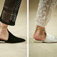 leather sandals women/eather sandals white/leather sandals/sandals leather/women sandals/sandals women/sandals flats/sandals/pointed shoes
