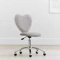 Velvet Gray Heart Airgo Desk Chair