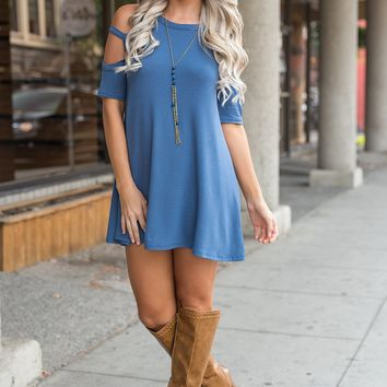 Enzo Strappy Tunic (Denim Blue)