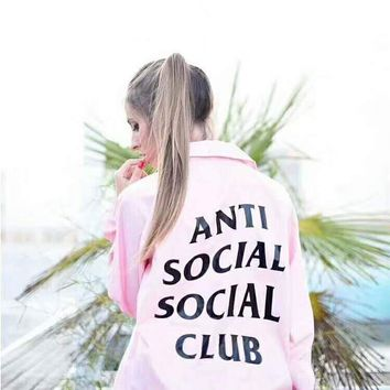 ANTI SOCAIL SOCIAL CLUB ASSC Fashion Casual Fashion Sport Monogram Print Long Sleeve Sweater Coat G-CN-CFPFGYS