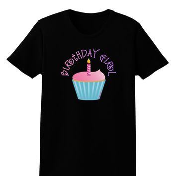 Birthday Girl - Candle Cupcake Womens Dark T-Shirt by TooLoud