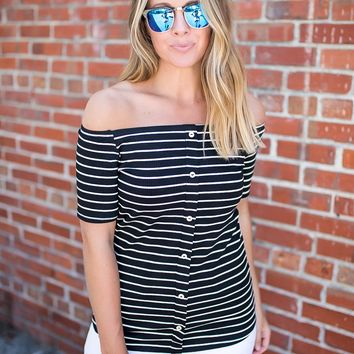 Off With The Night Top - Black
