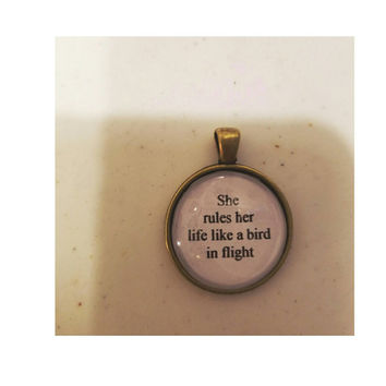 Rhiannon lyric quote necklace
