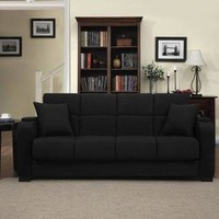 Tyler Storage Arm Convert-a-Couch and Sofa Bed Microfiber with Set of 2 Geometric Circles Dani Armless Accent Chairs - Walmart.com