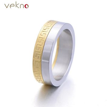 Rock Style Wedding Bands Male Ring  New Fashion Roma Numeral Spinner Stainless Steel Ring Men Engagement Jewelry Gifts